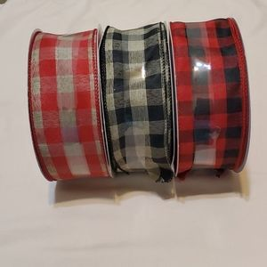 2.5 in Assorted Colors Plaid Ribbon
